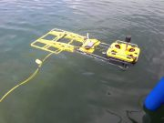Underwater metal detector in operation